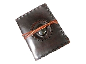 15X12 CM LEATHER JOURNALS STONE WITH STITCHING 120 PAPER